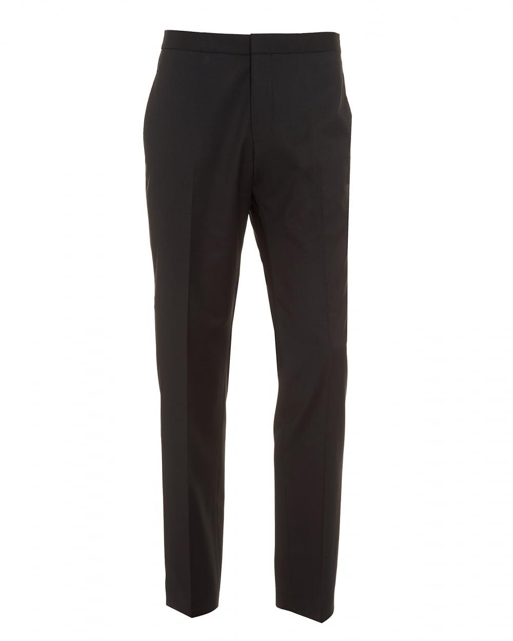 hugo boss classic mens godwin trousers slim fit virgin wool black