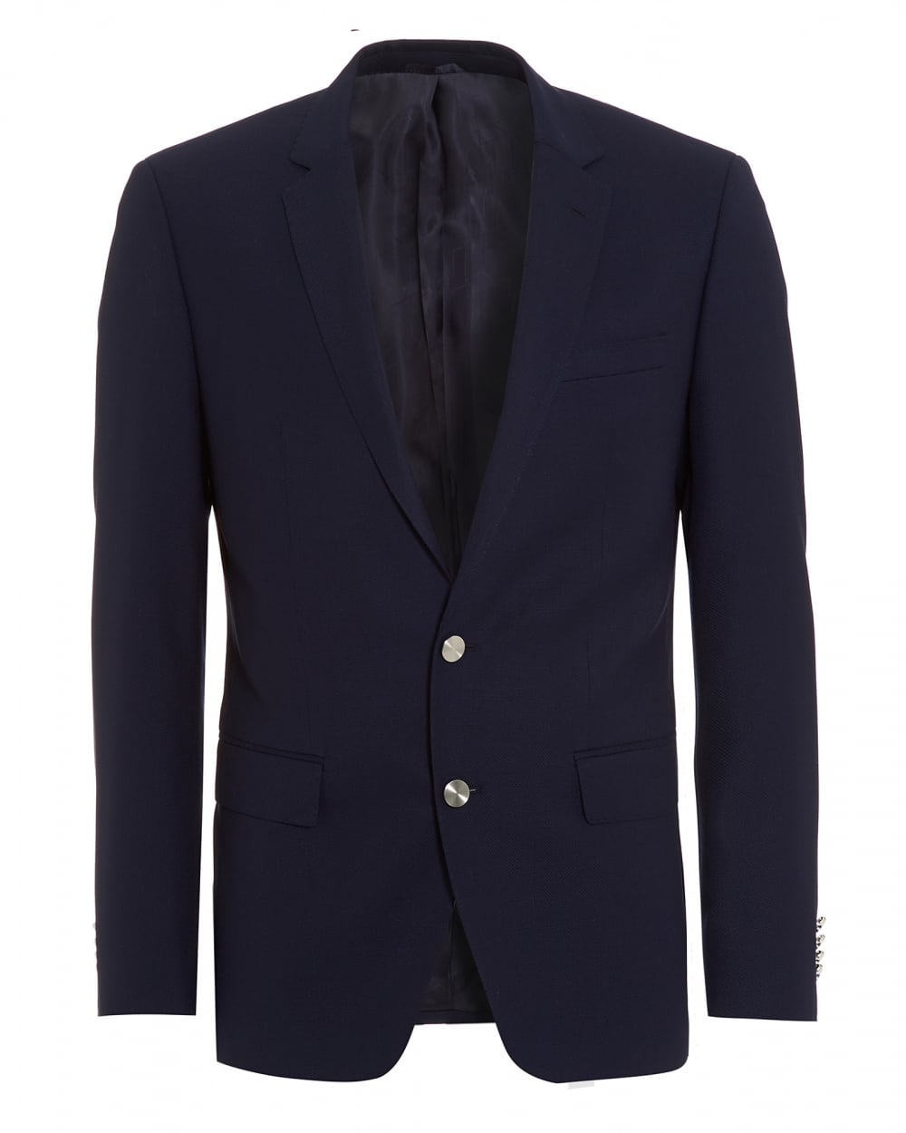e1f86940 Hugo Boss Classic Mens Hanston Jacket, Navy Blue Metal Button Slim Fi