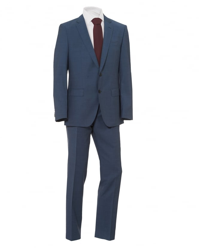 BOSS Mens Huge Genius Suit, Slim Fit Blue Suit