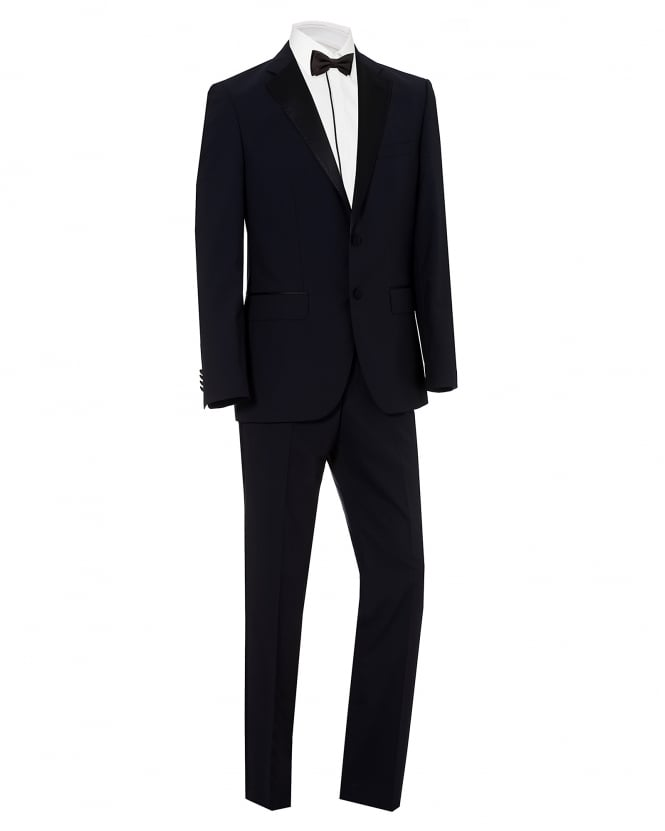 BOSS Mens Jelvan Liven Black Wool Dinner Suit