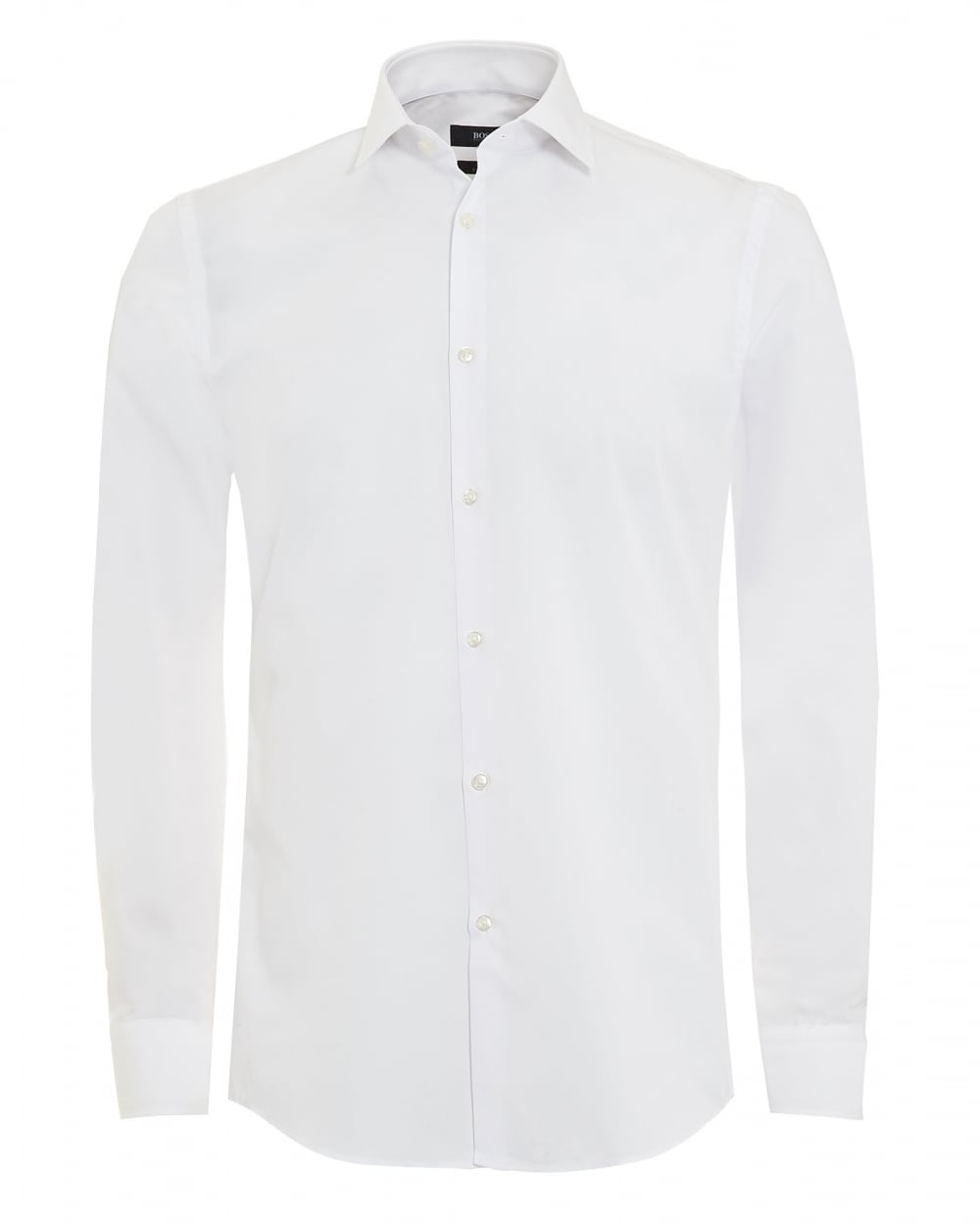 Hugo boss classic mens jenno shirt white plain formal slim for Mens formal white shirts