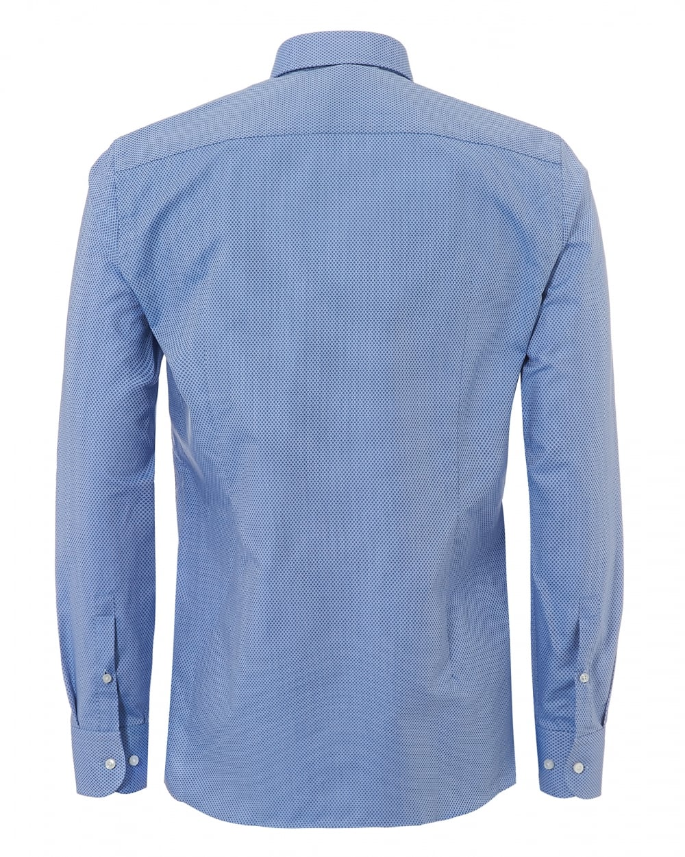 e593e8a7 Hugo Boss Classic Mens Jerris Woven Diamond Slim Fit Sky Blue Shirt