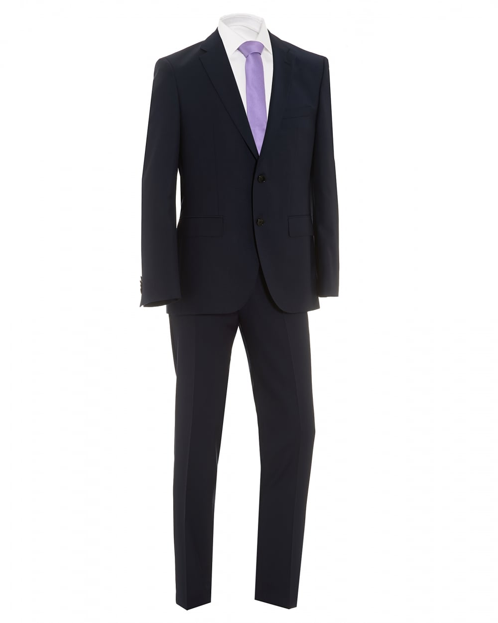 5b7b38d3b Hugo Boss Classic Johnstons Lenon Textured Dark Navy Suit