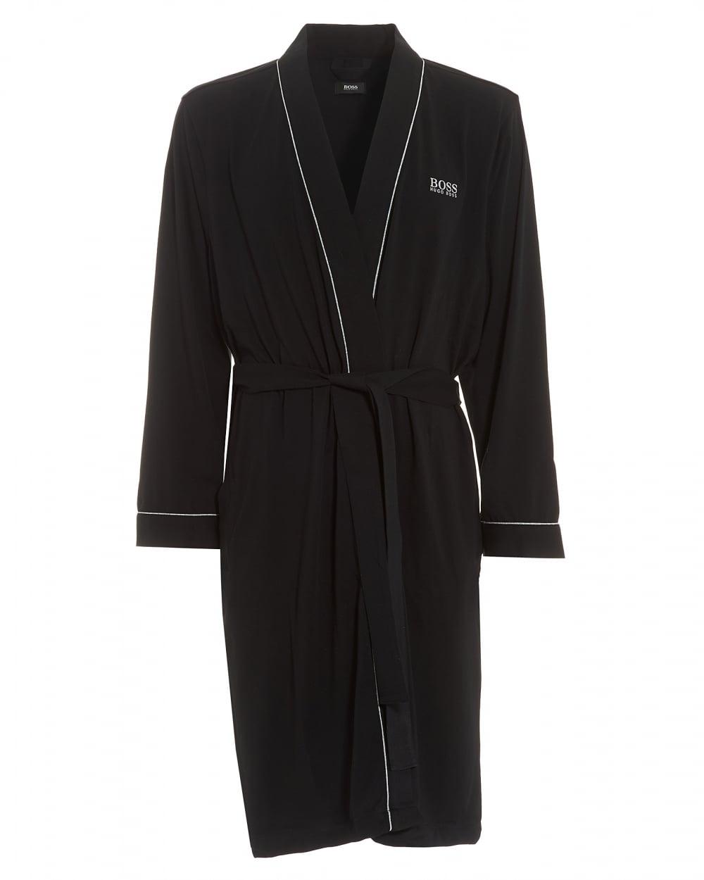 Hugo Boss Black Mens Kimono Cotton Black Dressing Gown