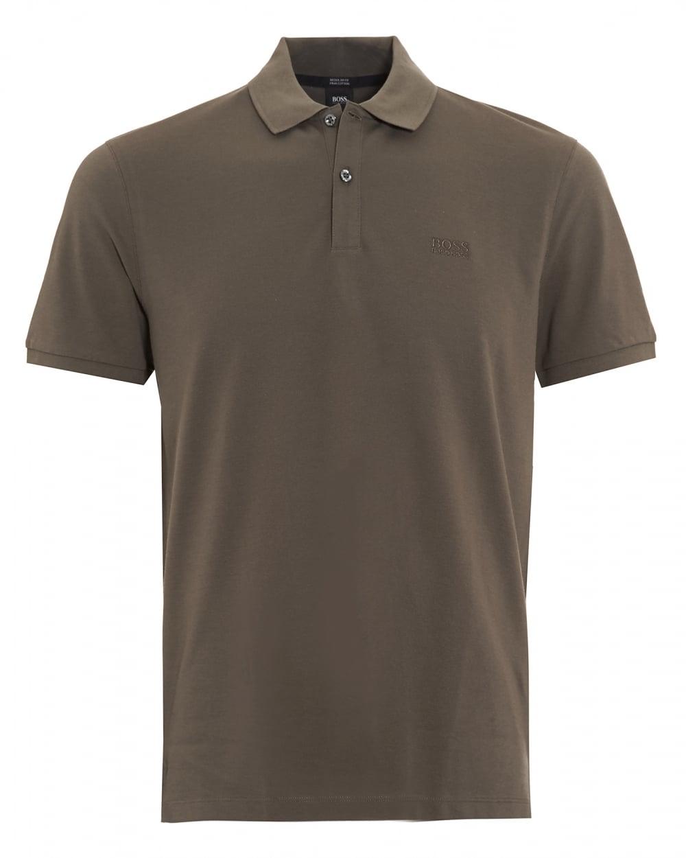 Hugo Boss Black Mens Pallas Regular Fit Olive Green Polo Shirt 94b573aaa040