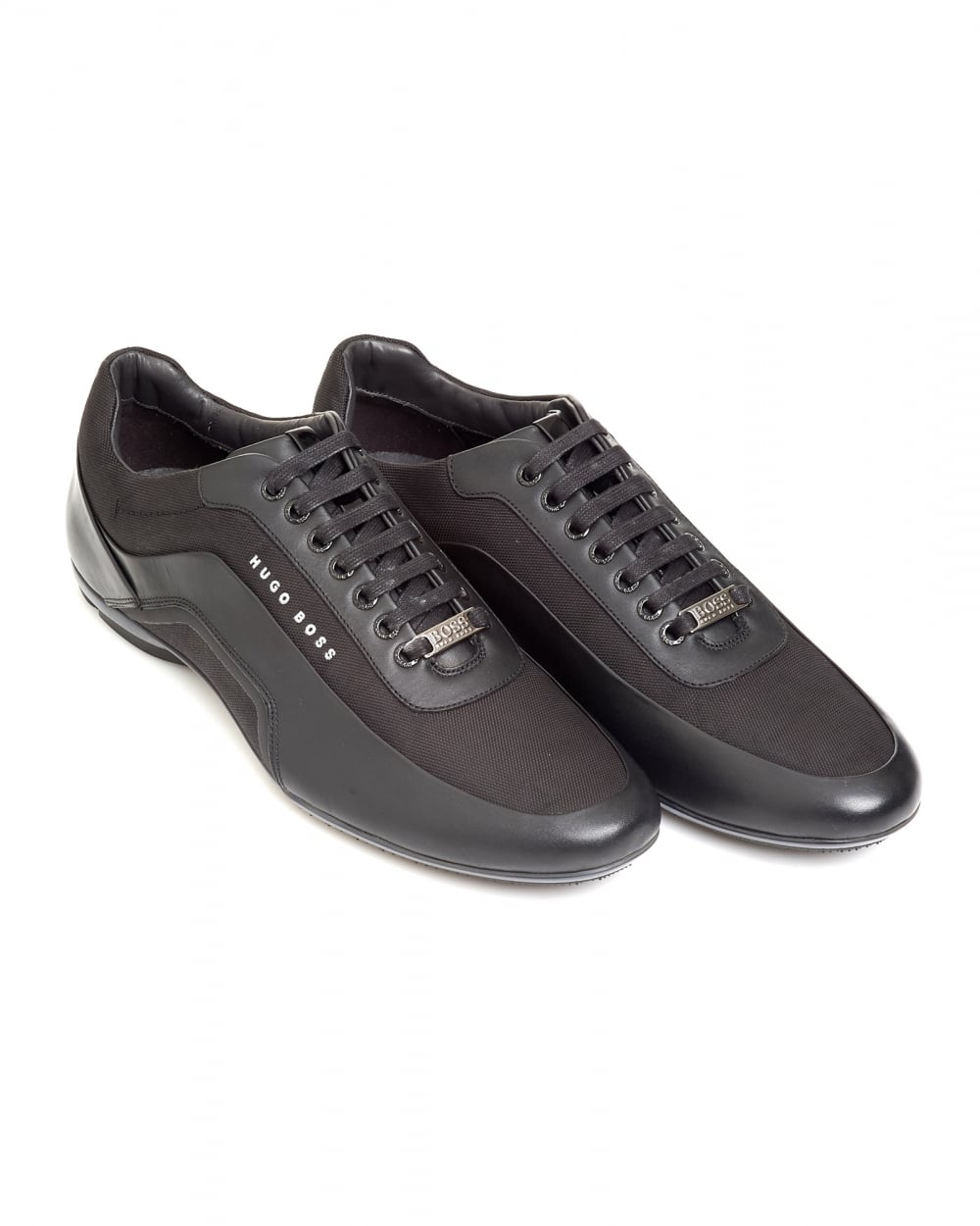 Trainers in leather and carbon fibre BOSS oNIyjVVH