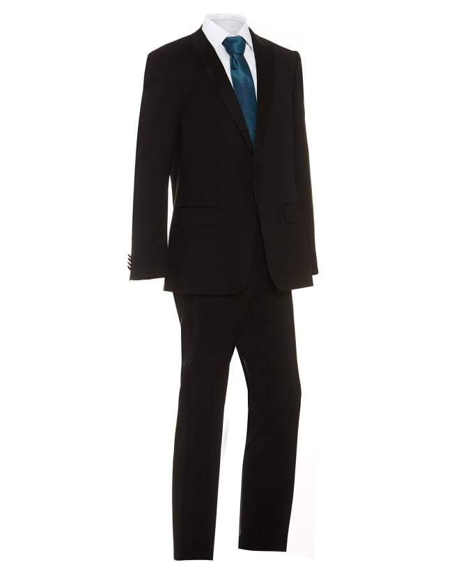 BOSS Mens Suit Houston/Glorious Black Slim Fit Dinner Suit