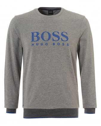 Mens Sweatshirt RN, Crew Neck Logo Grey Sweat