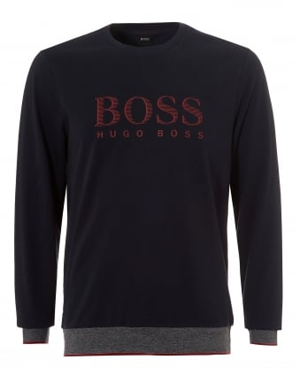 Mens Sweatshirt RN, Crew Neck Logo Navy Blue Sweat