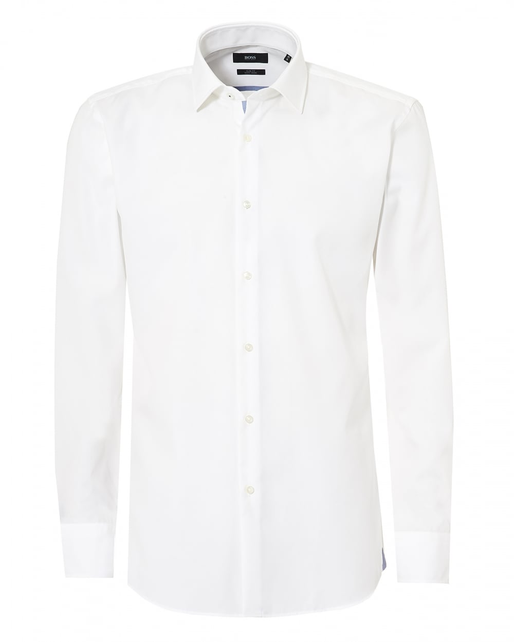 dbf10515c Hugo Boss Classic Mens White Jerris Slim Fit Inner Trim Shirt
