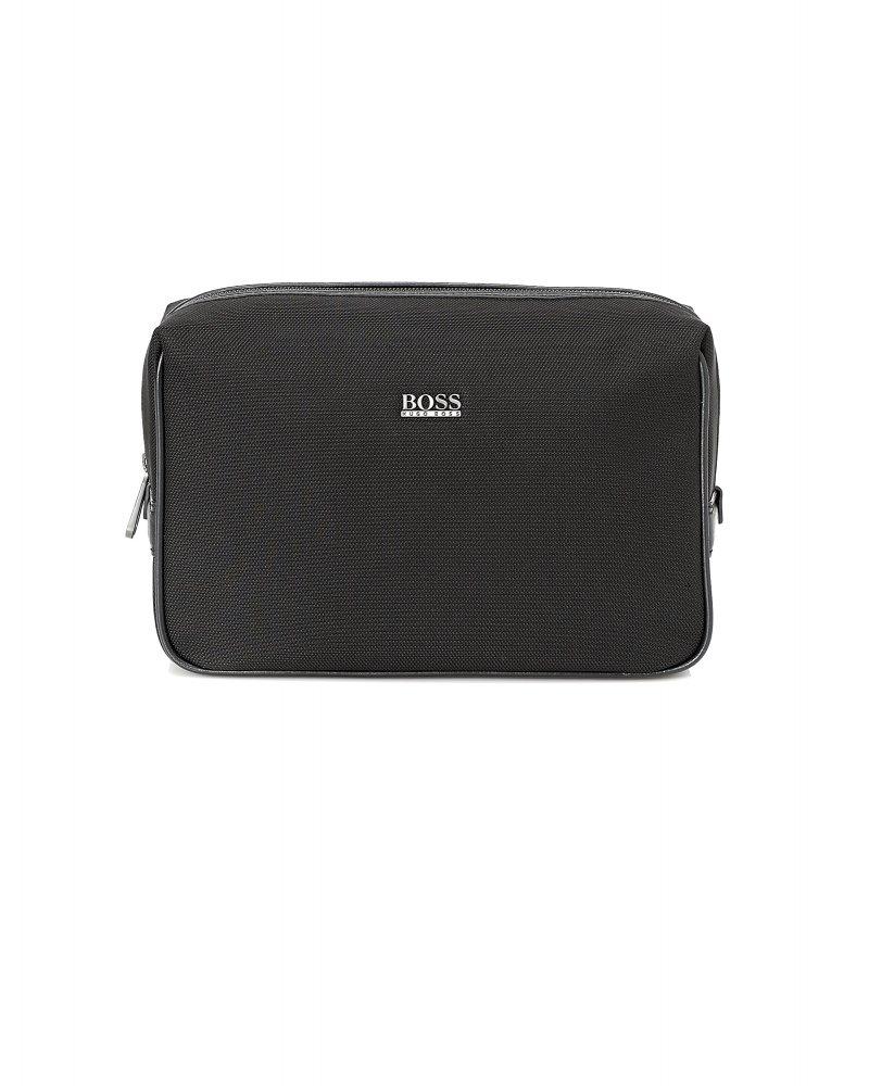 9297e6932d Hugo Boss Black Traveller Leather Washbag. Nemphis Black Water-Resistant Wash  Bag