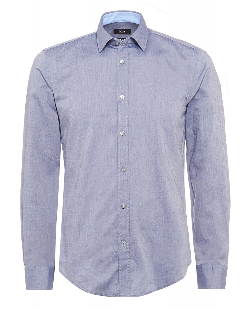 c2957cd54 Hugo Boss Black Ronni 2 Blue Slim Fit Shirt