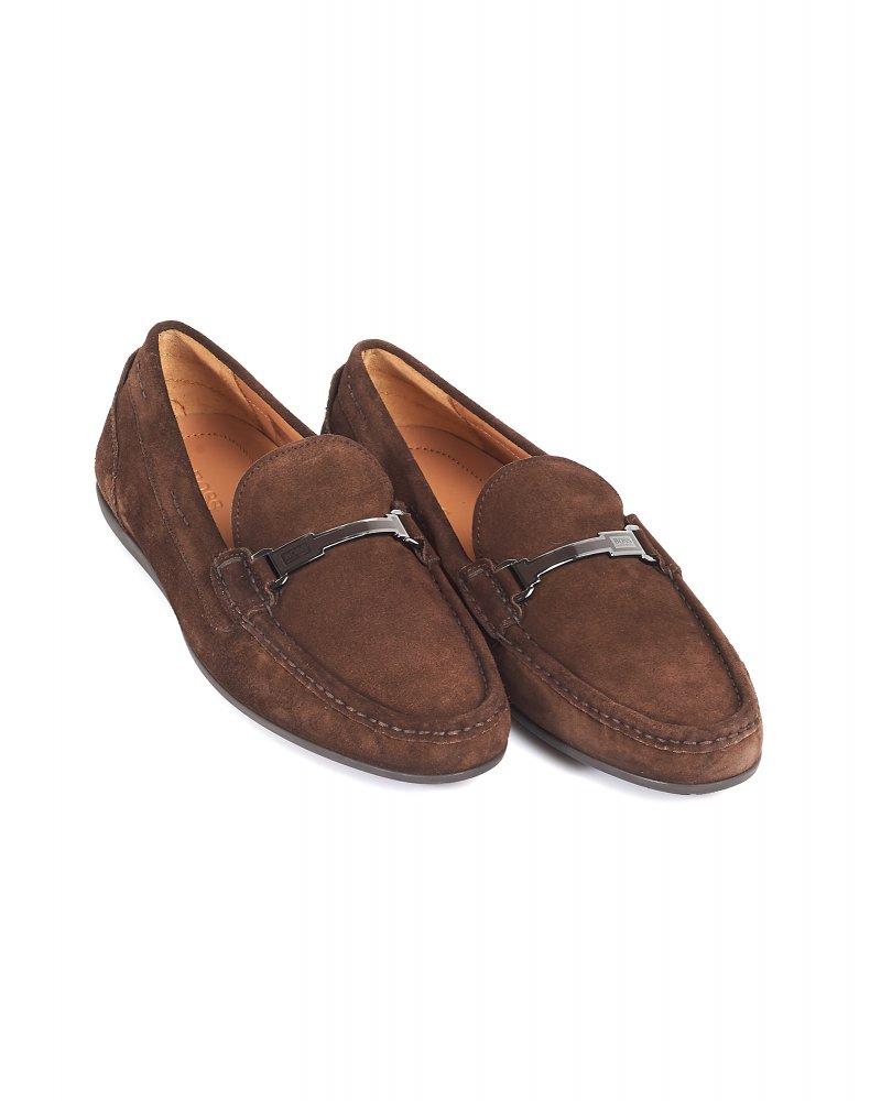 dbaa9fa8cfa Hugo Boss Black Suede Driving Shoes Chocolate Brown  Flarro  Loafers