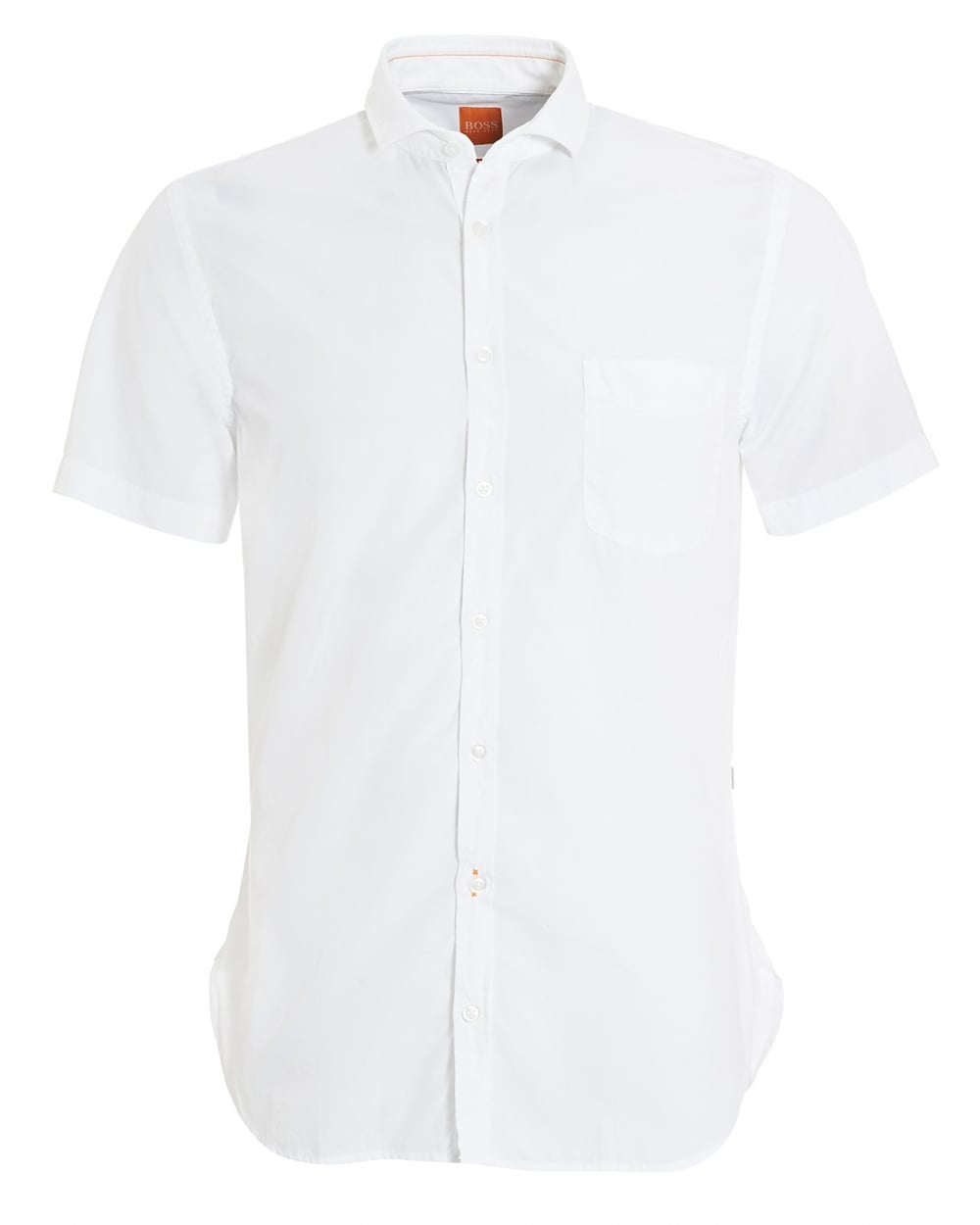a93a831993c Hugo Boss Orange Mens Cattitude-Short Short Sleeved White Shirt