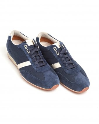Mens Orland_Lowp_sdny1 Trainers, Suede Leather Navy Blue Sneakers