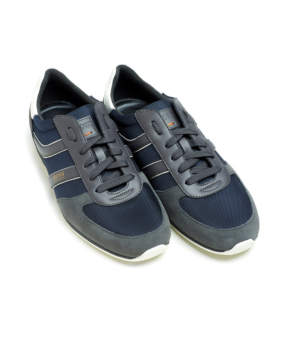 Hugo Boss Orange Mens Orland_Runn_ny Dark Blue Trainers, Low-Top ...