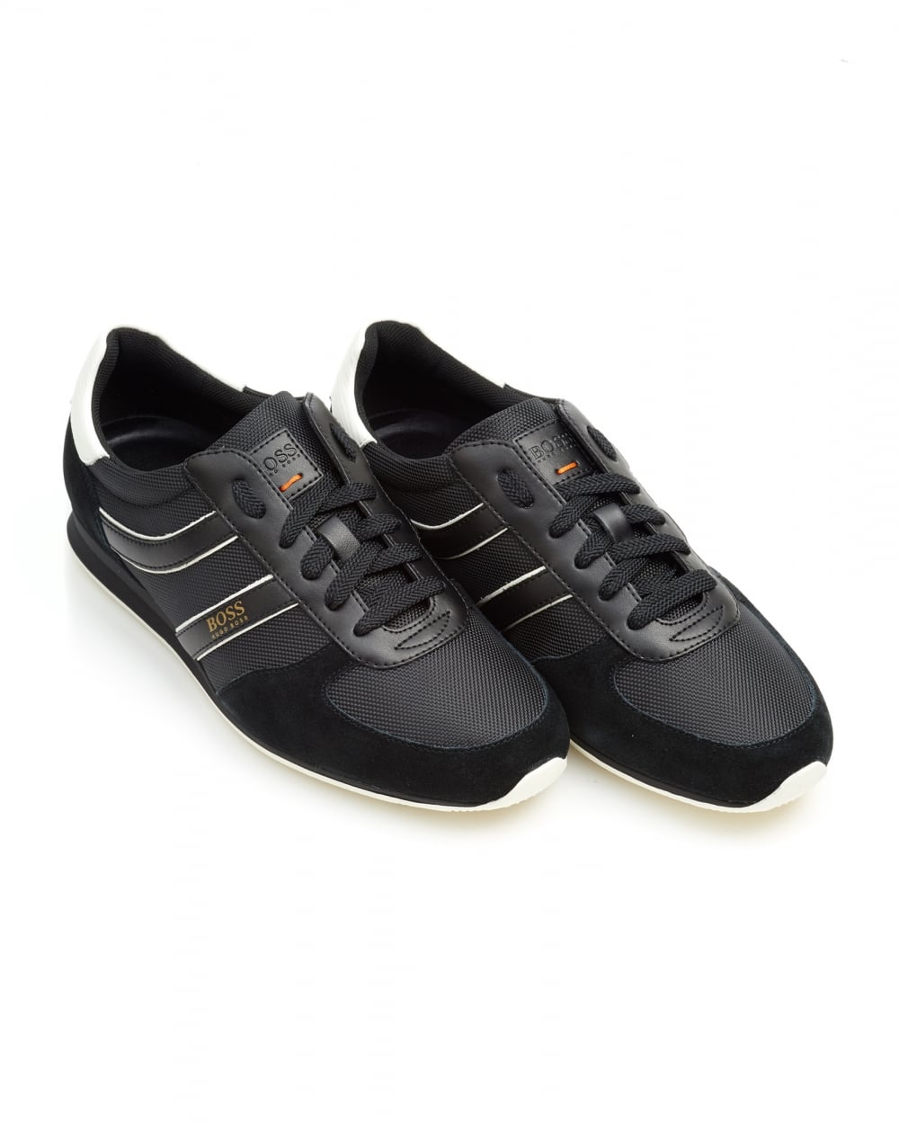 save up to 60% save up to 60% fashionable and attractive package Mens Orland_Runn_ny Trainers, Side Stripe Black Sneakers