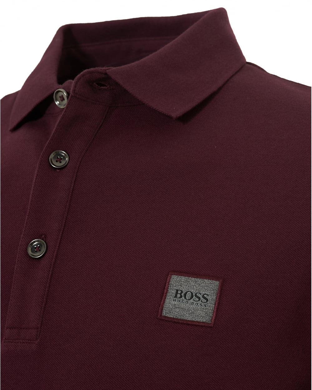 Hugo Boss Orange Mens Pavlik Plain Chest Logo Burgundy Polo Shirt