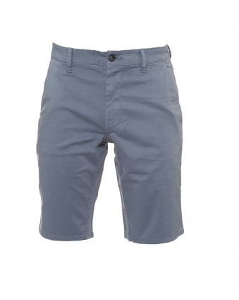 Mens Schino Shorts, Slim Fit Pale Blue Chino Short