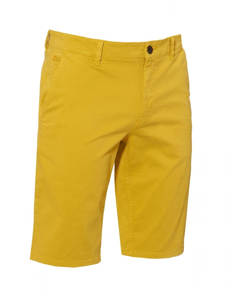 eaff7b54 Hugo Boss Orange Mens Schino Shorts, Slim Fit Yellow Chino Short