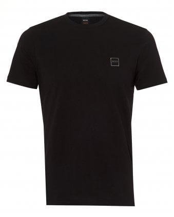 Mens Tales T-Shirt, Chest Patch Logo Black Tee