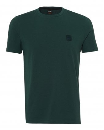 Mens Tales T-Shirt, Chest Patch Logo Green Tee