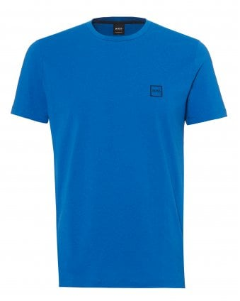 Mens Tales T-Shirt, Chest Patch Logo Mid Blue Tee