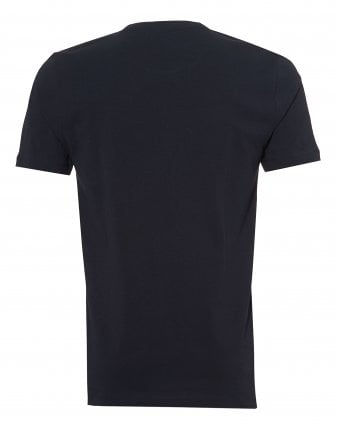 Mens Tales T-Shirt, Chest Patch Logo Navy Blue Tee