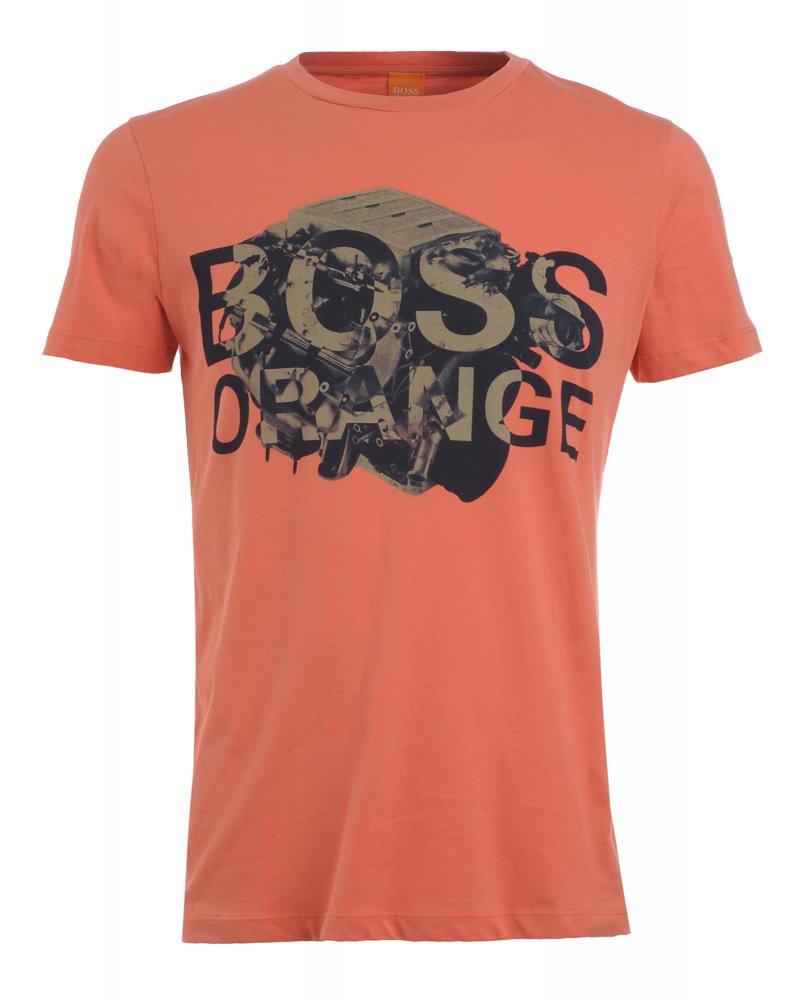 d3f4975b5 Hugo Boss Orange T-Shirt, Coral Engine Graphic 'Talking 1' Tee