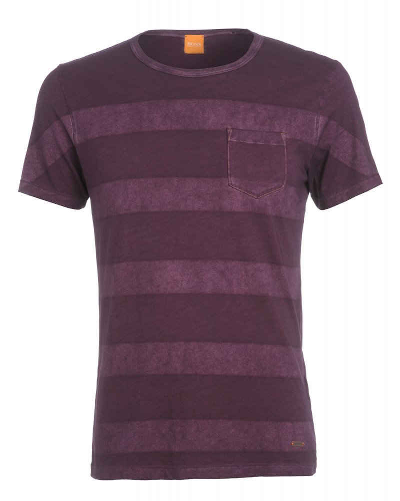 0c1b823ef Hugo Boss Orange 'Touch' Washed Effect Purple T-Shirt at Repertoire