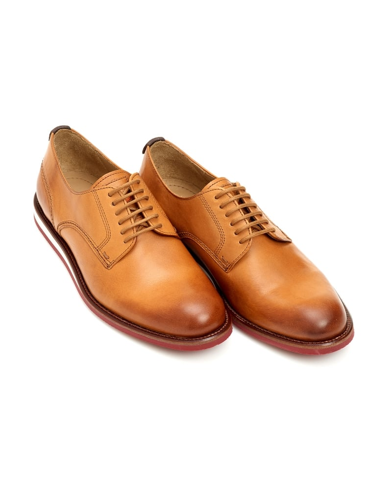 Hugo Boss Orange Volf Mens Shoes Leather Lace Up Tan Shoe 47b254611a35