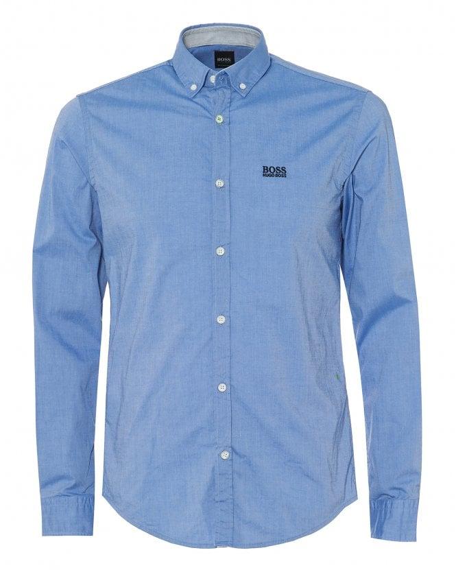 BOSS Mens Biado_R Cotton Stretch Sky Blue Shirt