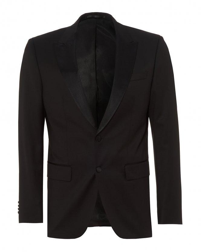 BOSS Mens Halwod_CYL Virgin Blazer, Slim Fit Black Jacket