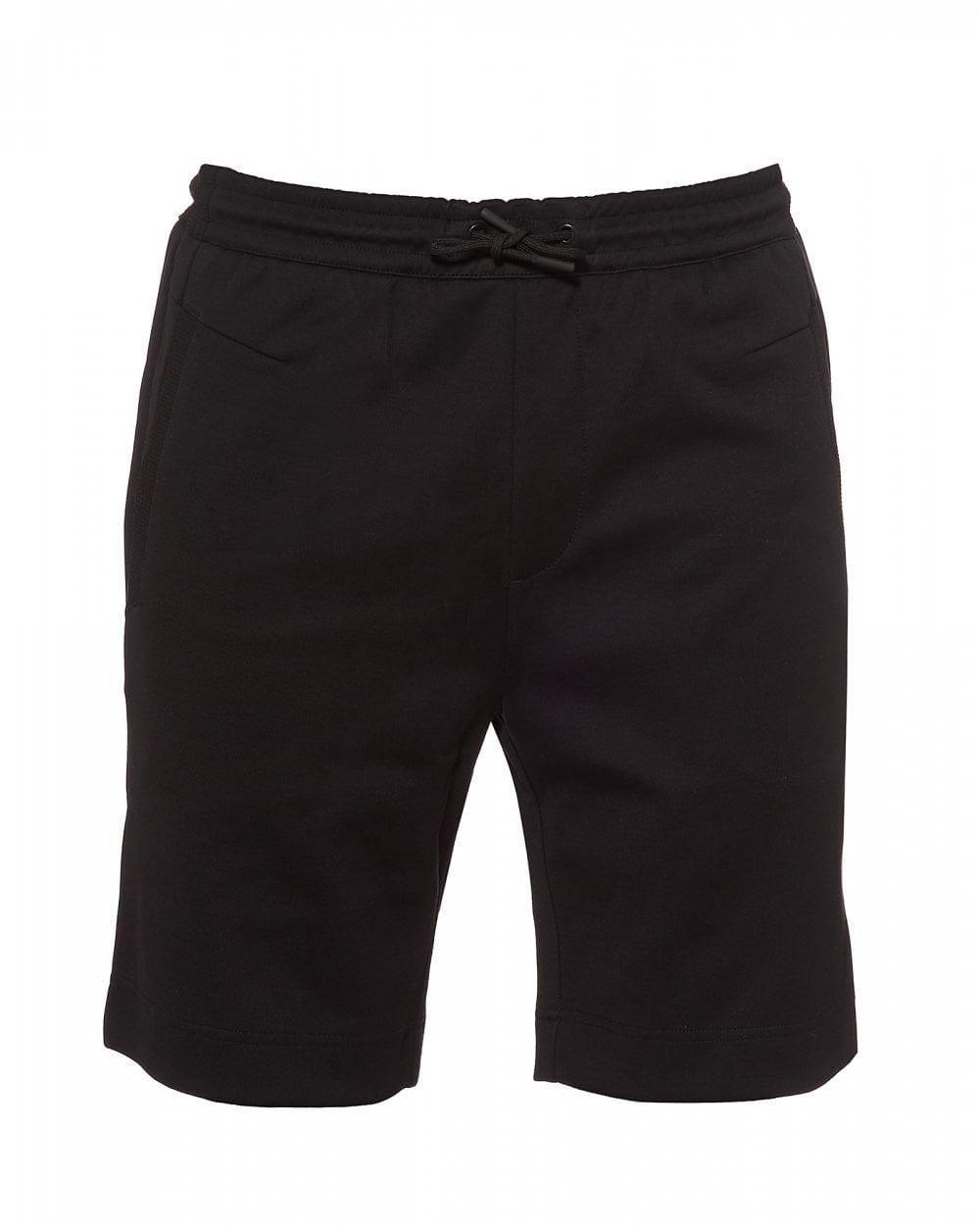 2822dc277 BOSS Athleisure Mens Headlo Logo Slim Fit Black Sweat Shorts
