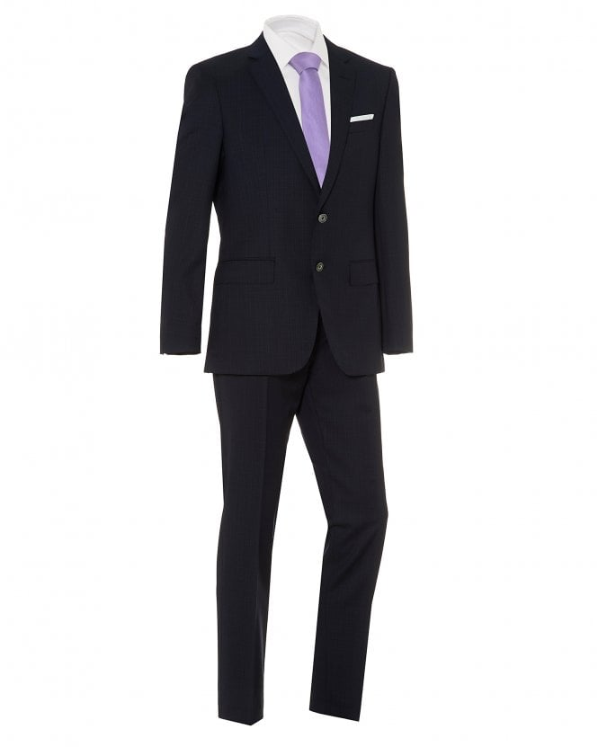 BOSS Mens Hutson5/Gander3 Suit, Navy Blue Slim Fit Suit