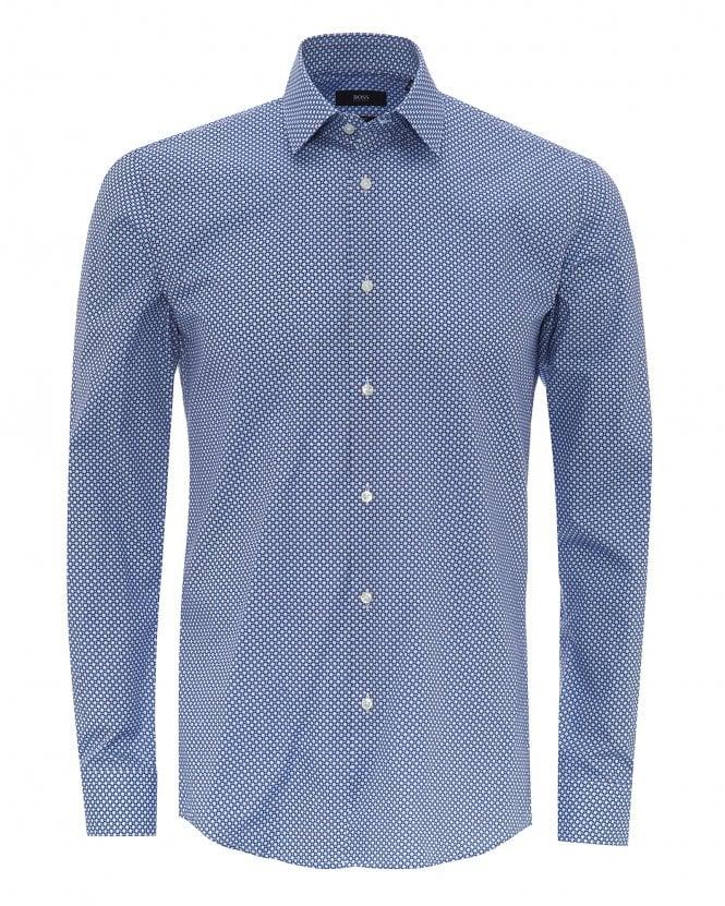 BOSS Mens Isko Cotton Poplin Slim Fit Shirt