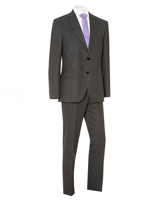 BOSS Mens Johnston5/Lenon1 Wool Suit, Grey Regular Fit Suit