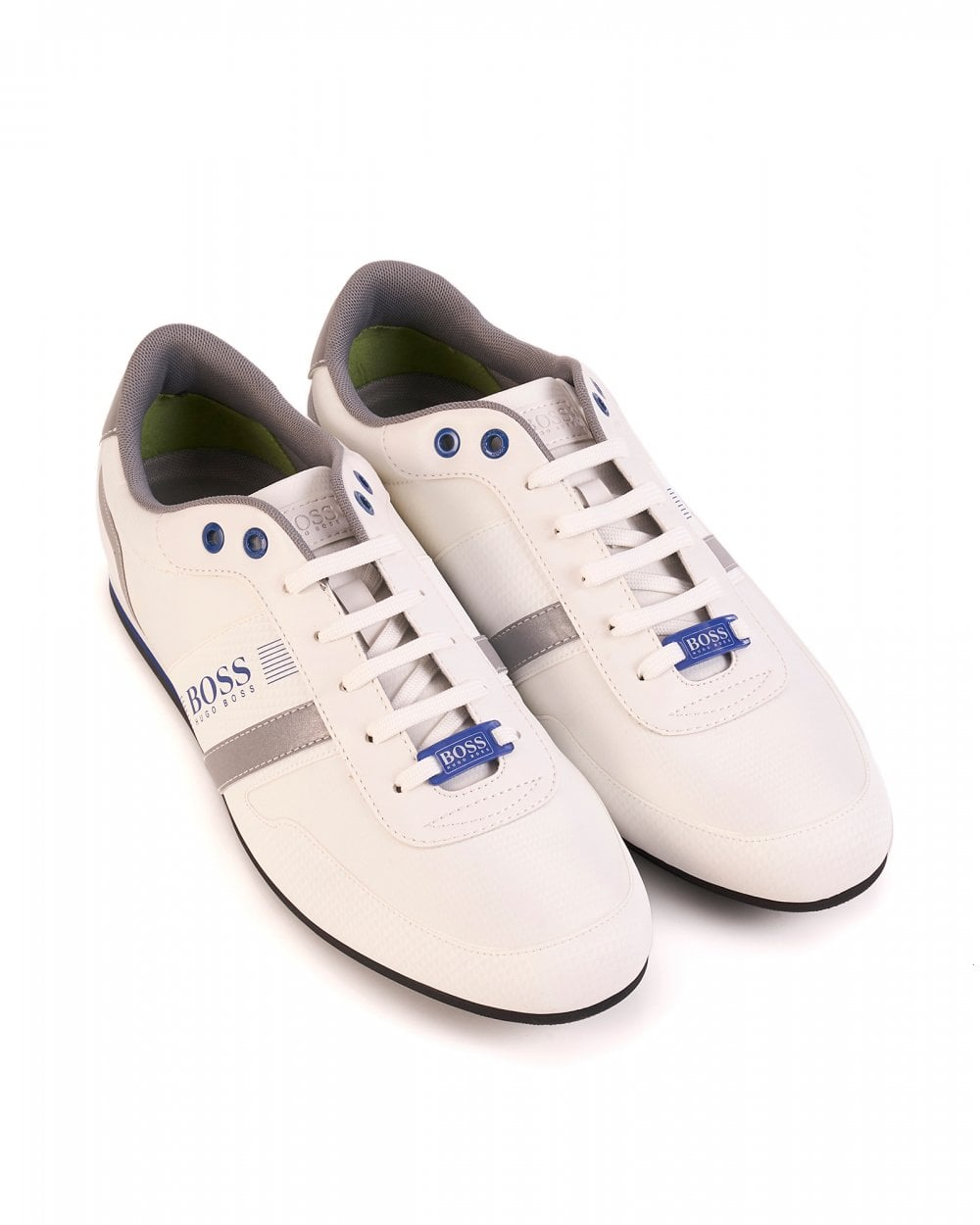 temperament shoes most desirable fashion choose best Mens Lighter Low Jacquard Trainers, White Nylon Sneakers