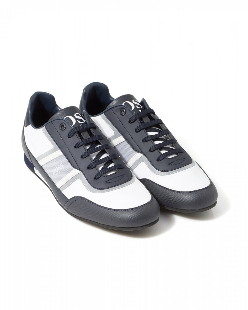 fresh styles purchase cheap classic fit Mens Lighter Low Lightweight Trainers, Navy & White Striped Sneakers