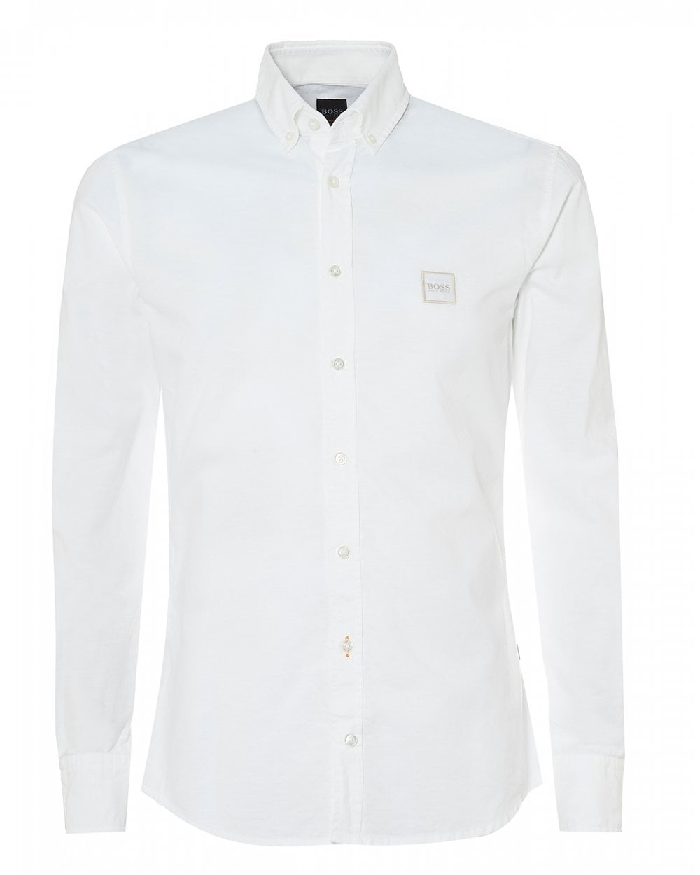 e79516567 BOSS Casual Mens Mabsoot Slim Fit White Oxford Shirt