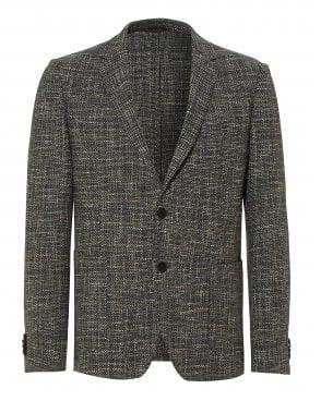 ba786d8b4b5 Hugo Boss Classic Mens Nye Cashmere Wool Mix Navy Blue Crombie Coat
