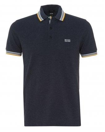 92add2a0d Mens Paddy Polo, Regular Fit Navy Blue Melange Polo Shirt