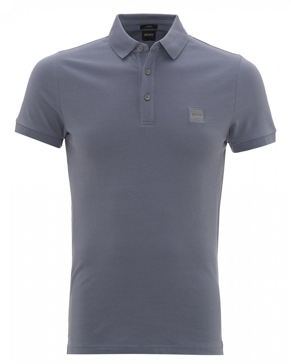 560d3f26 BOSS Casual Mens Passenger Polo Shirt, Open Blue Polo