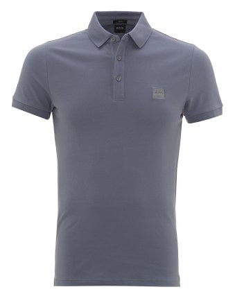 f564a96a Mens Passenger Polo Shirt, Open Blue Polo