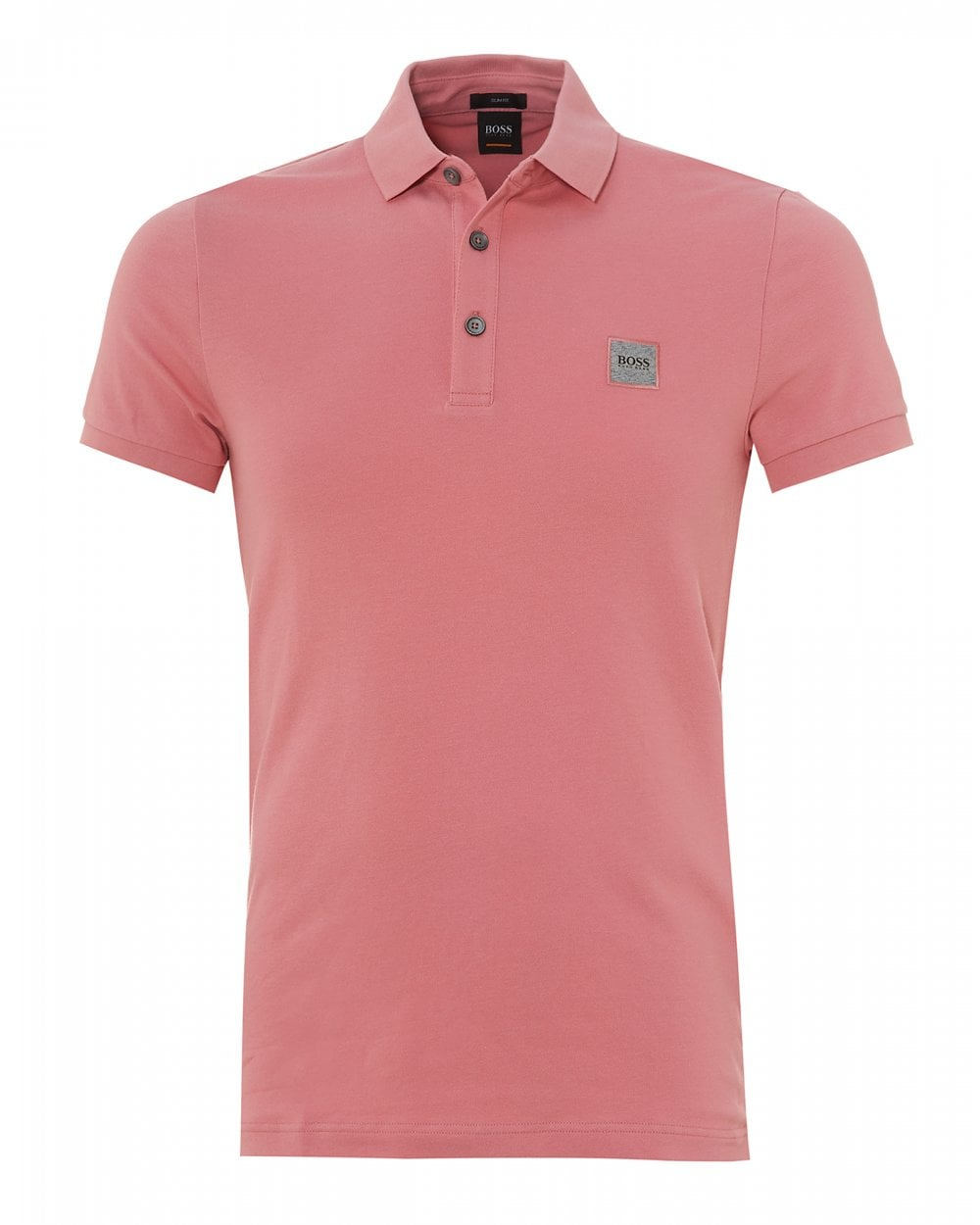 2f71f9c0 BOSS Casual Mens Passenger Polo, Slim Fit Pink Polo Shirt