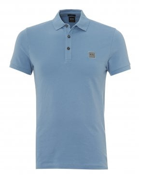 398fae4d6fa5 Hugo Boss Black Polo Shirt, Grey 'Paullo 01' Slim Fit Cotton Polo