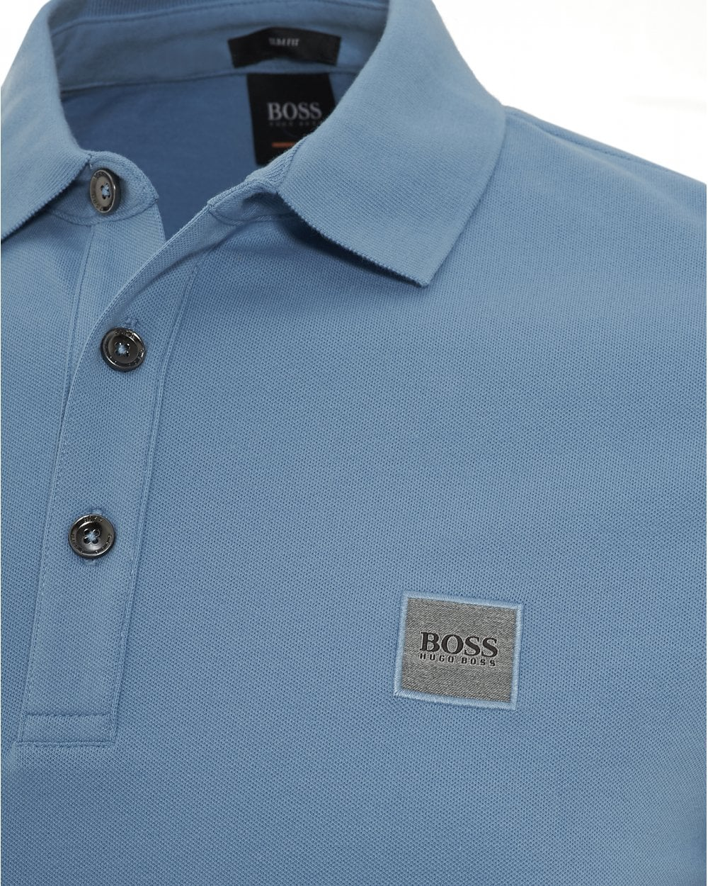 b57533ade BOSS Casual Mens Passenger Polo, Slim Fit Sky Blue Polo Shirt