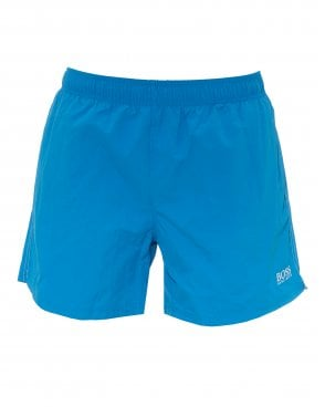 4f2d53669 Mens Perch Swimshorts, Quick-Drying Logo Blue Swimming Trunks