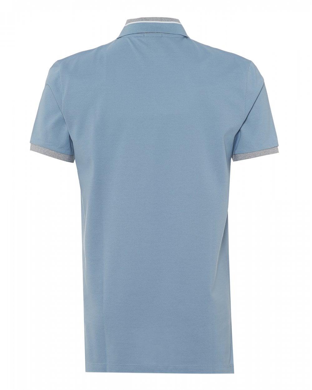 11136f1b1 BOSS Business Mens Phillipson 41 Polo, Sky Blue Polo Shirt
