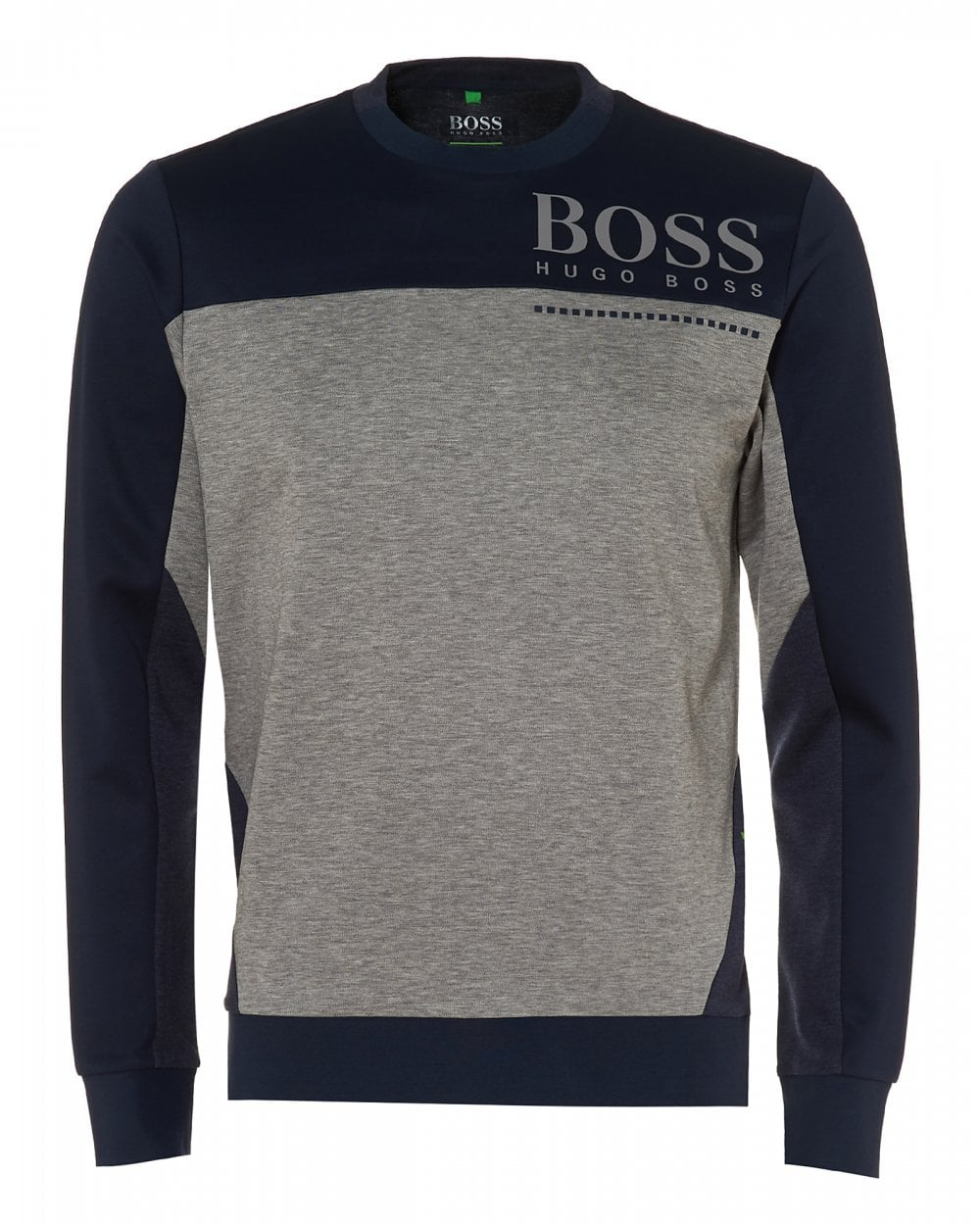 a0bd6be54ca BOSS Athleisure Mens Saltech Sweatshirt, Two Tone Navy Blue Sweat